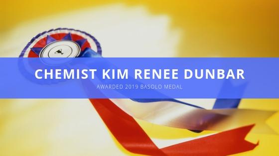 Kim Renee Dunbar Awarded Basolo Medal