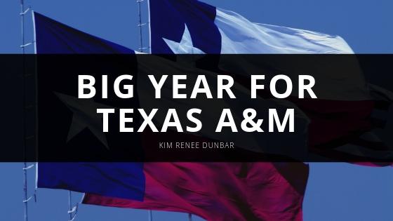 Kim Renee Dunbar Big Year for Texas AM