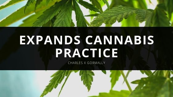 Charles X Gormally Expands Cannabis Practice