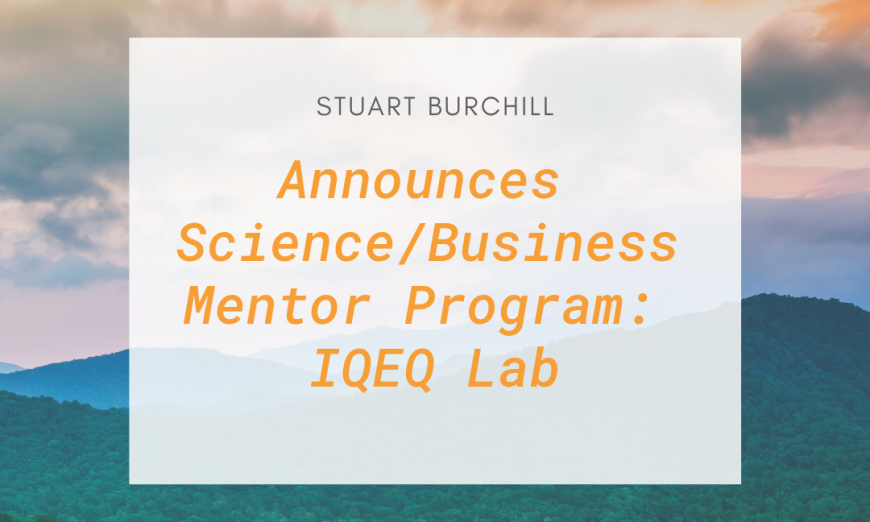 "I handle two firms which have two patents in nanotechnology, and so they conduct enterprise globally,"" continues Stuart Burchill"