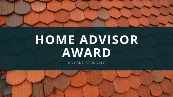 DG Contracting, LLC Wins Prestigious Home Advisor Award