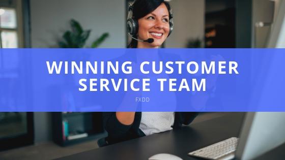FXDD winning Customer Service Team