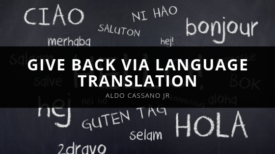 Give Back via Language Translation
