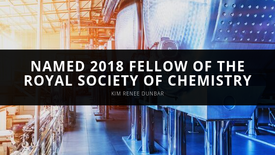 Kim Renee Dunbar Named 2018 Fellow of the Royal Society of Chemistry
