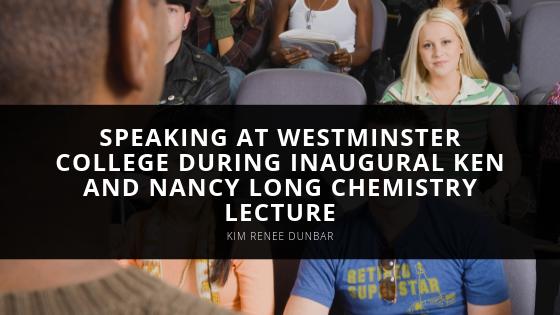 Kim Renee Dunbar Speaks at Westminster College During Inaugural Ken and Nancy Long Chemistry Lecture